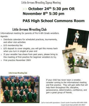 Little Arrow Wrestling Flyer